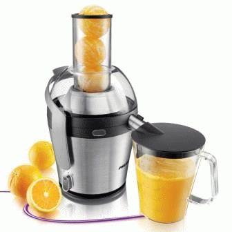 Центробежная соковыжималка с апельсиновым соком