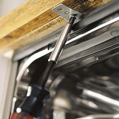 Подготовка к ремонту встраиваемой посудомоечной машины