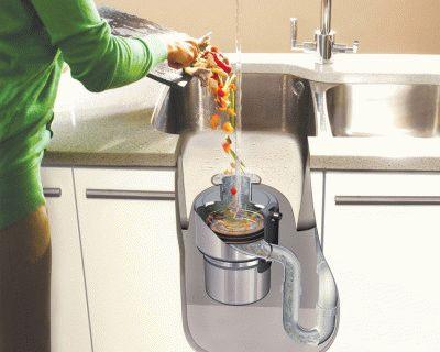 Использование измельчителя пищевых отходов