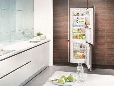 Обычный встраиваемый холодильник для кухни