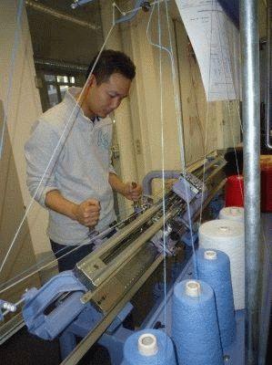 Использование вязальной машины