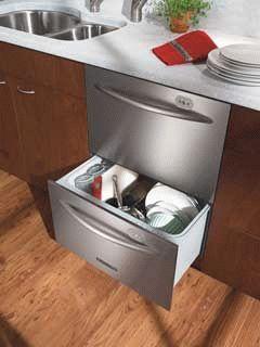 Удобная встроенная посудомойка