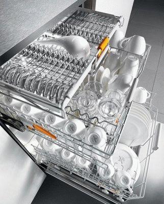 Вместительная посудомоечная машина