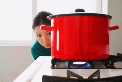 Приготовление пищи на плите