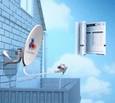 Штатная установка антенны Триколор ТВ