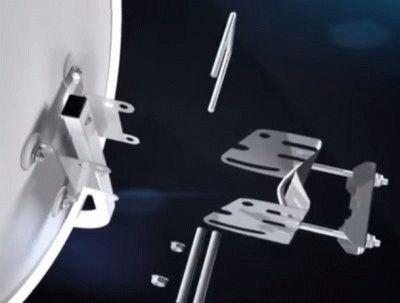 Установка антенны Триколор своими руками: сборка, размещение, закрепление