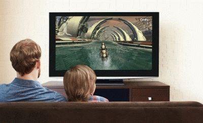 Важно придерживаться безопасного расстояния до ТВ