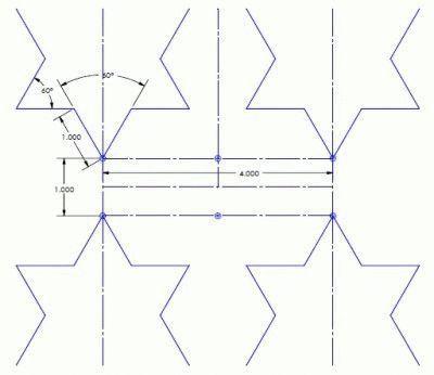 Звёздочки фрактальной антенны