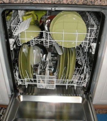 Загруженная посудомоечная машина