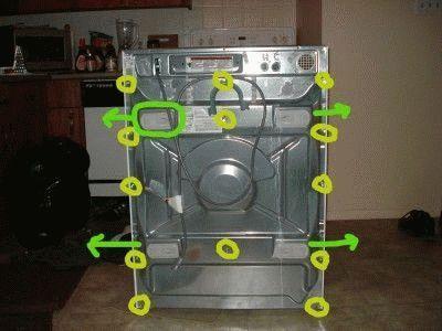 Задняя панель стиральной машины