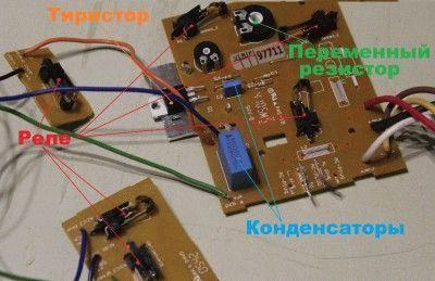 Тиристорная схема подстройки оборотов коллекторного двигателя