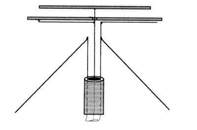 Схема дискоконусной антенны