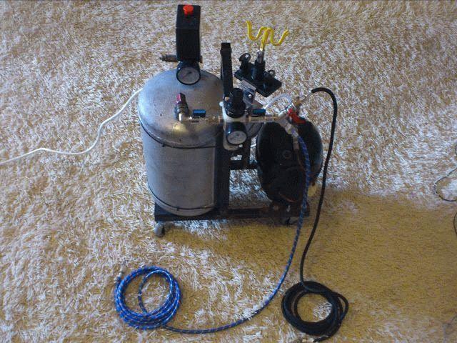 Воздушный компрессор из компрессора кондиционера автомобиля своими руками 79