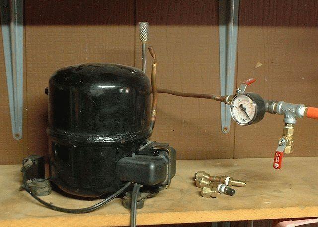 Вакуумный компрессор своими руками из холодильника