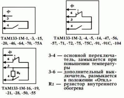 Схема термостатов
