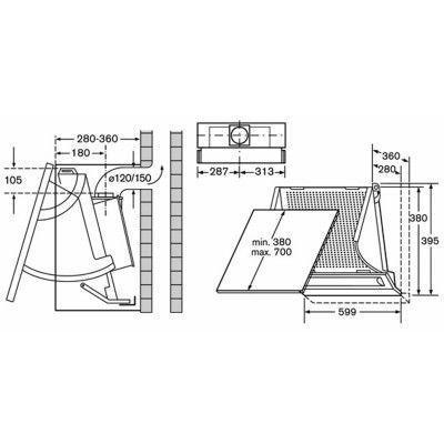 Схема установки вытяжки