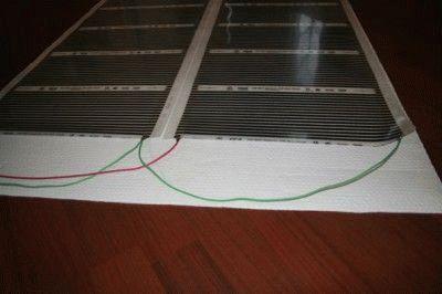 Подключение ИК плёночных обогревателей