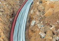 Прокладка кабеля под землёй