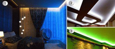 Варианты потолочной подсветки