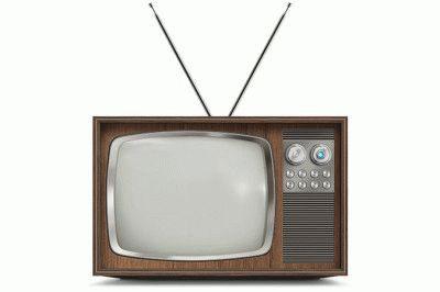 Старый чёрно-белый телевизор