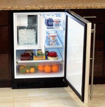 Небольшой холодильник встроенного типа