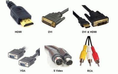 Типы разъёмов кабелей