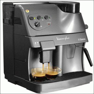 Работа кофемашины Saeco Vienna