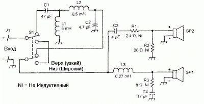 Схема сборки акустической системы