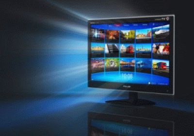 Стильный интерфейс телевизора