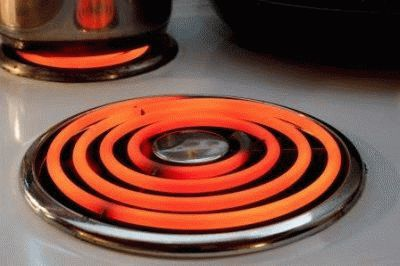 Плита для дачи со спиралью