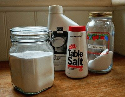 Различные средства для посудомойки