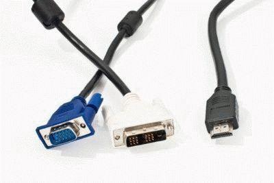 Разные кабеля для портов