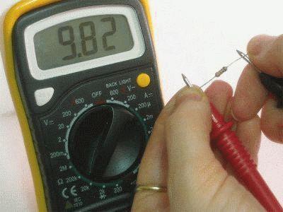 Проверка мультиметром резистора