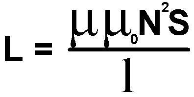 Формула расчёта индуктивности