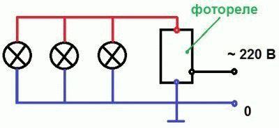 Схема подключение реле