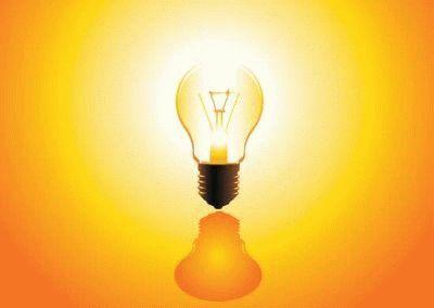 Свет от лампы накаливания