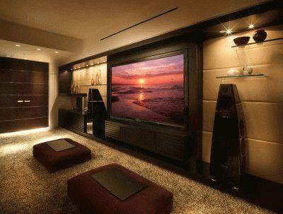 Домашний кинотеатр в доме