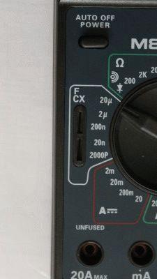Гнездо для измерения конденсатора