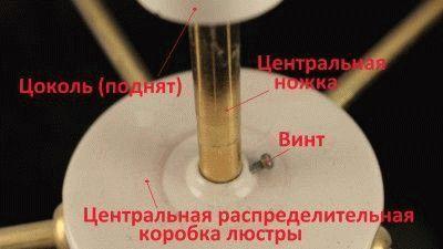 Конструкция люстры