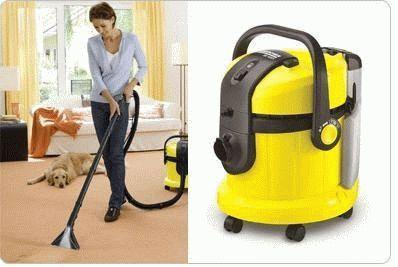 Уборка в доме моющим пылесосом