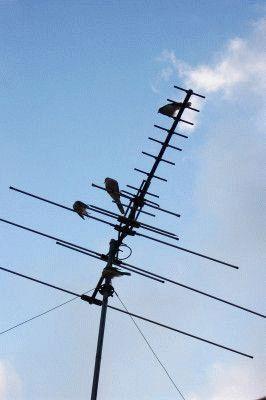 Наружная антенна на улице