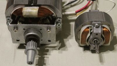 Типичные бытовые электрические двигатели