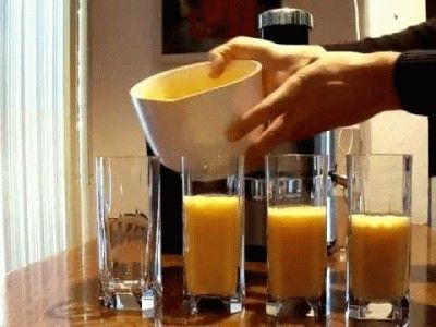 Получение сока из тыквы