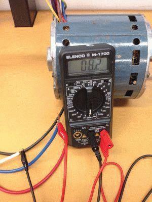 Тестирование электродвигателя