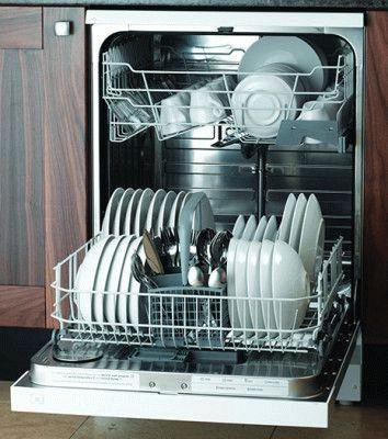 Чистая посуда после мойки