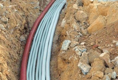 Подведение кабелей к дому