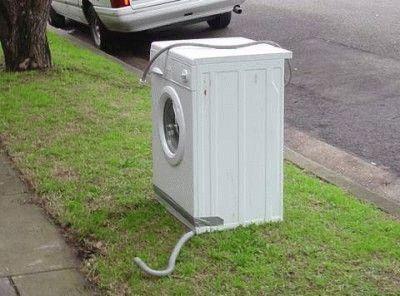 Старая стиральная машина