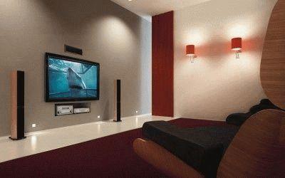 Расстояние до телевизора в комнате