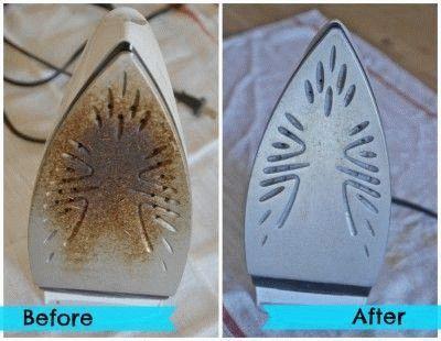Утюг до и после чистки