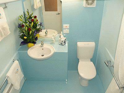 Ванная комната оборудованная вентилятором